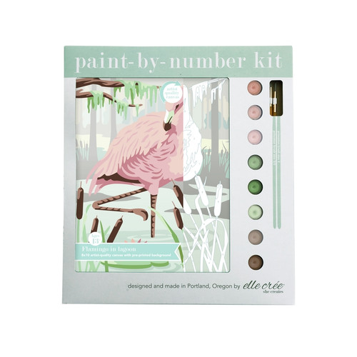 Flamingo in Lagoon Paint-by-Number Kit