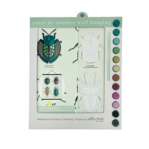 Beetles Paint-by-Number Wall Hanging Kit