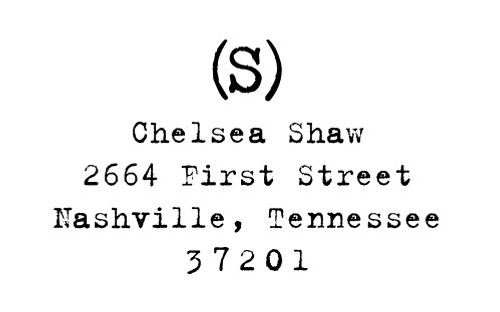 """Old Typewriter"" Return Address Stamp"