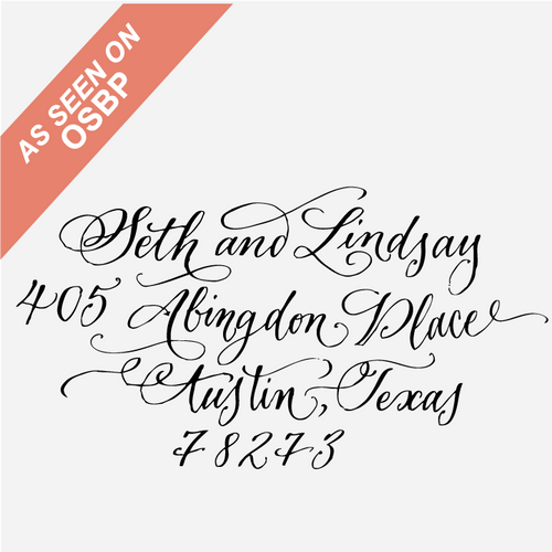 Calligraphy Custom Return Address Stamp