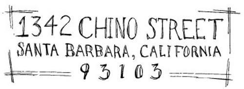 """""""Sketchbook"""" Hand Lettered Return Address Stamp"""