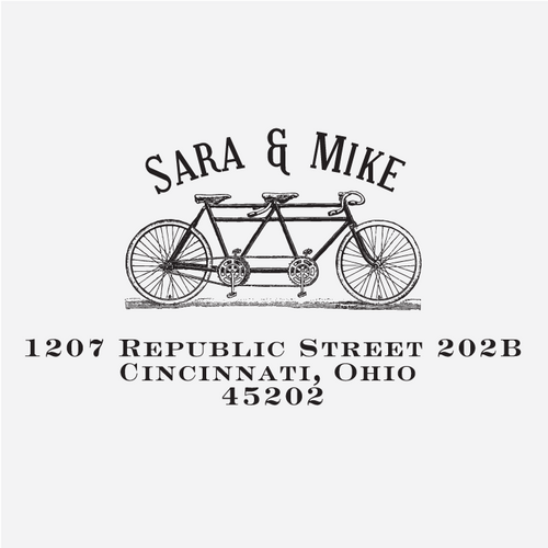 """Bicycle"" Return Address Stamp"
