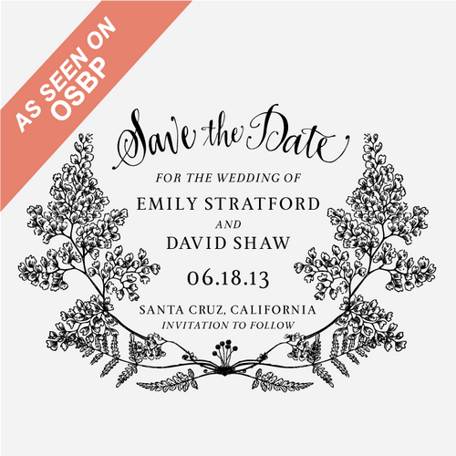 """Fern Forrest"" Save the Date Stamp"