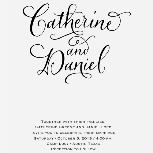 """Calligraphy Accent"" Invitation Stamp, No. 2"