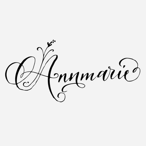 """Floral Calligraphy"" Name Monogram Stamp"