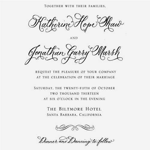 """""""Traditional Calligraphy"""" Invitation Stamp"""