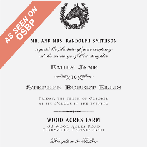 """Equestrian"" Invitation Stamp"