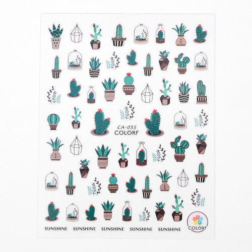 Cactus Nail Art Stickers ColorF CA-035