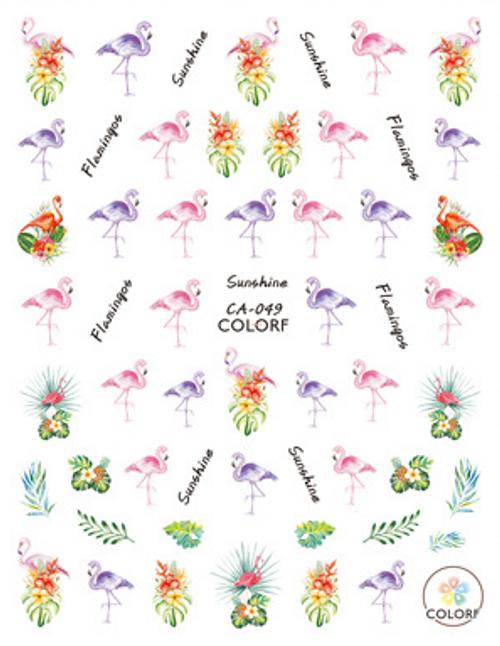 Flamingo Nail Art Stickers ColorF CA-049