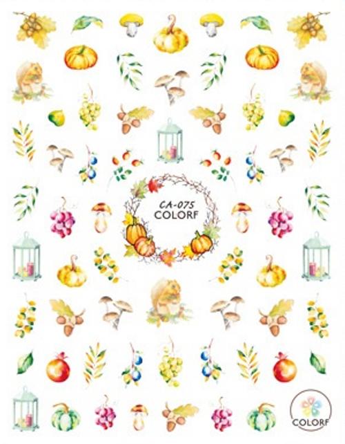 Autumn & Acorns Nail Art Stickers ColorF CA-075