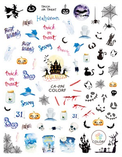 Halloween Nail Art Stickers ColorF CA-096