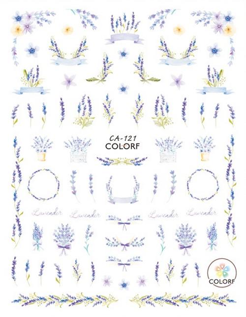 Lavender Nail Art Stickers ColorF CA-121