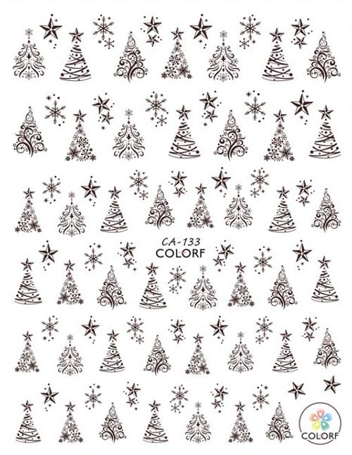 Christmas Tree Nail Art Stickers ColorF CA-133 Winter
