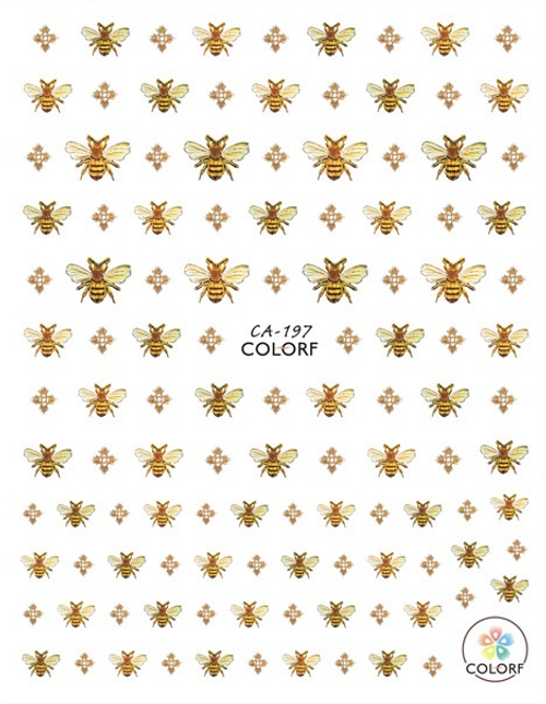Bees Nail Art Stickers ColorF CA-197