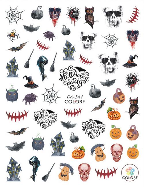Spooky Halloween Nail Art Sticker ColorF CA-341