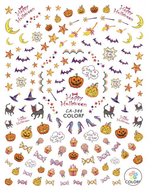 Cute Halloween Nail Art Stickers ColorF CA-344