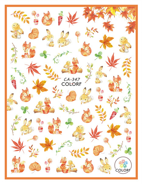 Cute Autumn Nail Art Stickers ColorF CA-347