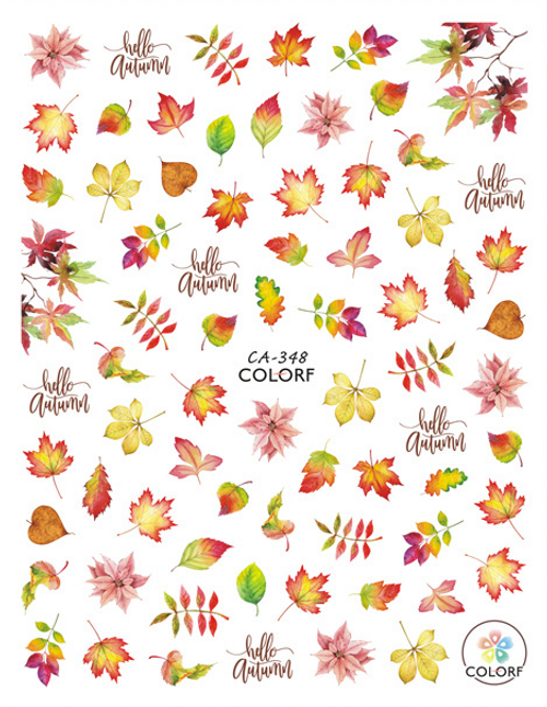 Autumn Leaves Nail Art Stickers ColorF CA-348