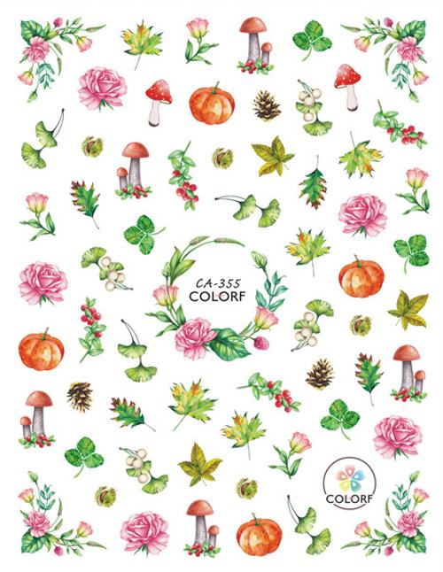 Autumn Garden Nail Art Stickers ColorF CA-355