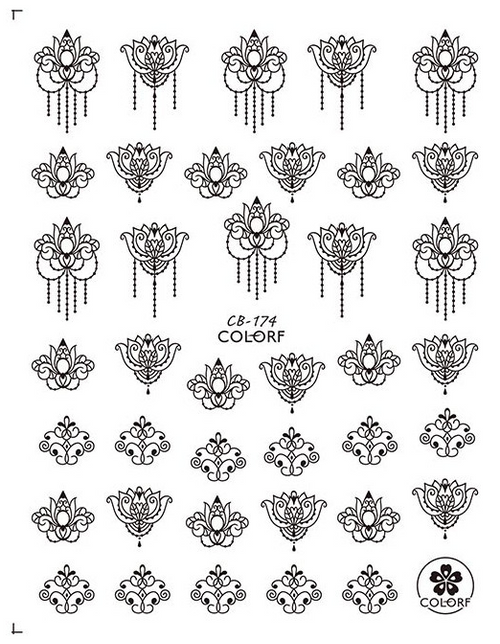 Floral Mandala Nail Art Stickers ColorF CB-174