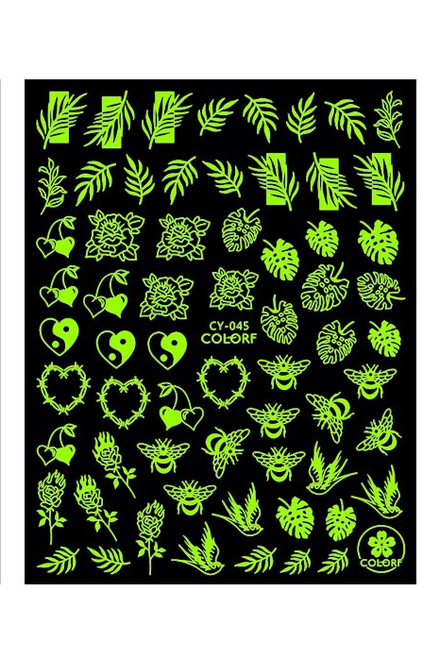 Glow-in-the-Dark Nail Art Stickers ColorF CY-045