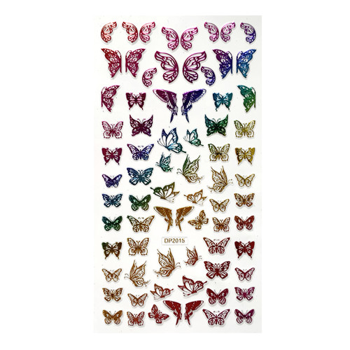 Colorful Metallic Butterfly Nail Art Stickers DP2015