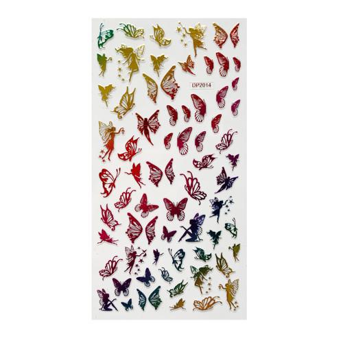 Metallic Butterflies & Fairies Nail Art Stickers DP2014
