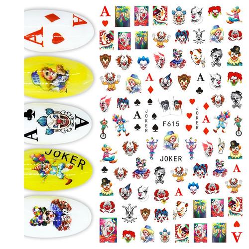 Clowns Nail Art Stickers F615