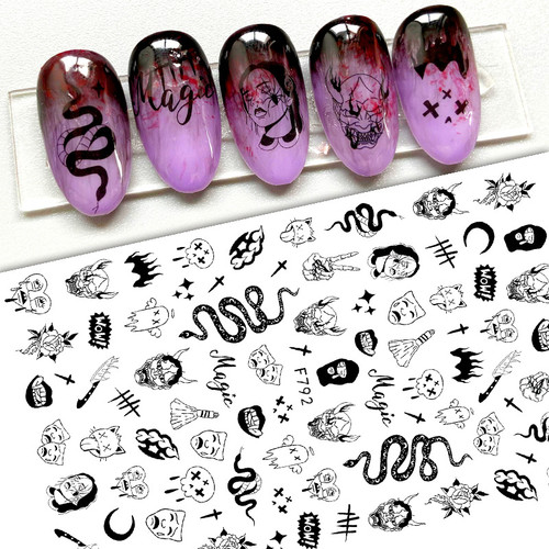 Black Magic Nail Art Stickers F792