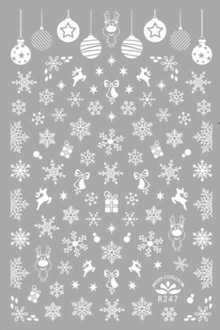 White Snowflakes Nail Art Stickers Miss Colour R247