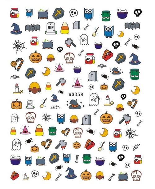 Cute Cartoon Halloween Nail Art StickersWG358
