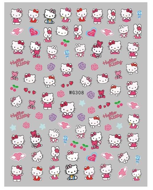 Hello Kitty Nail Art Stickers WG308 Anime Cartoon