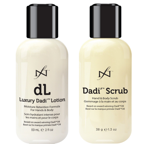 Famous Names Dadi' Duo Kit with Luxury Daddy Lotion and Dadi' Scrub for hands and feet