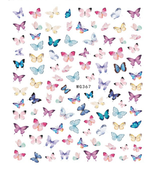 Pastel Butterfly Nail Art Stickers