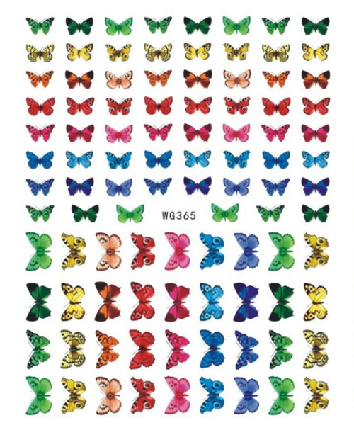 Colorful Butterfly Nail Art Stickers