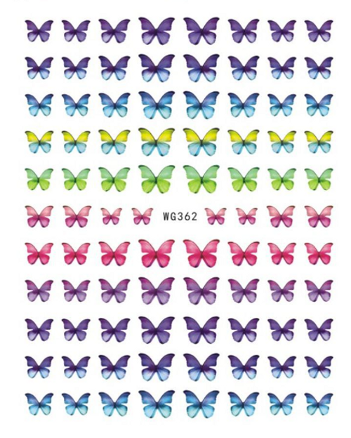 Rainbow Butterfly Nail Art Stickers