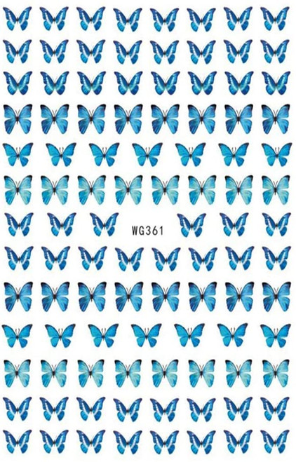 Blue Butterfly Nail Art Stickers