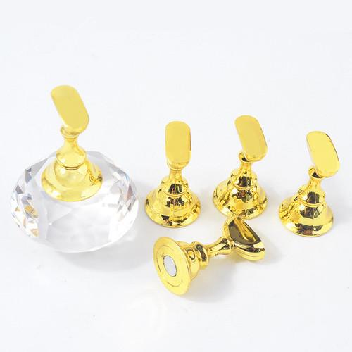 Clear & Gold Crystal Tip Holder
