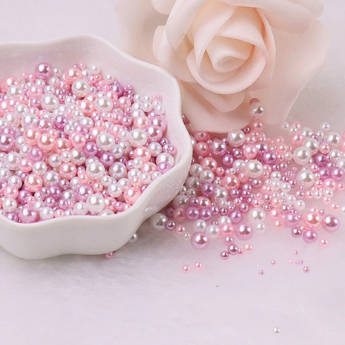 Pink, Purple & White Nail Art Pearl Mix