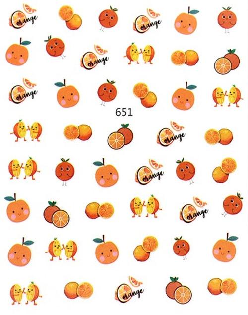 Orange Nail Art Stickers