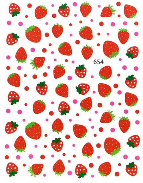 Strawberry Nail Art Stickers