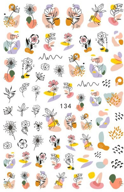 Abstract Nail Art Stickers