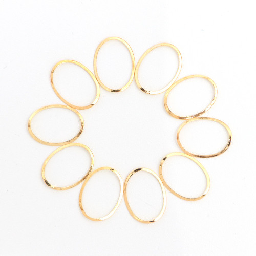 Gold Oval & Circle Metal Nail Art Frames