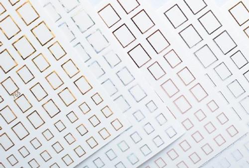 Metallic Frames Nail Art Stickers