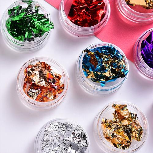Assorted Colorful Loose Leaf Nail Art Foils Alluminium
