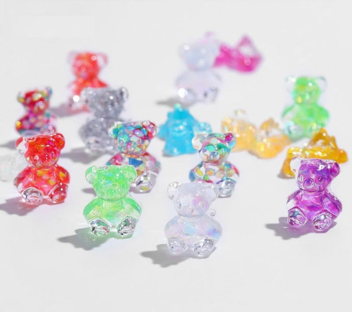 3D Nail Art Aurora Jelly Glitter Gummy Bears
