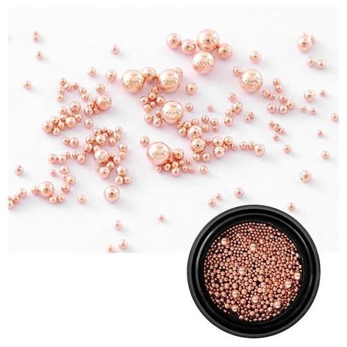 Mixed Sizes Metal Metallic Caviar Beads Rose Gold Silver Dark Gun Metal Black Nail Art