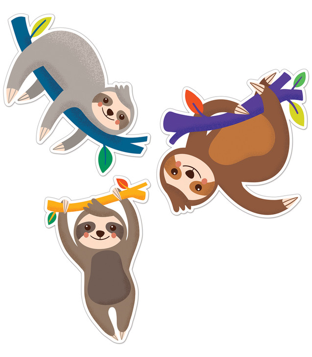 One World Sloths Cut-Outs