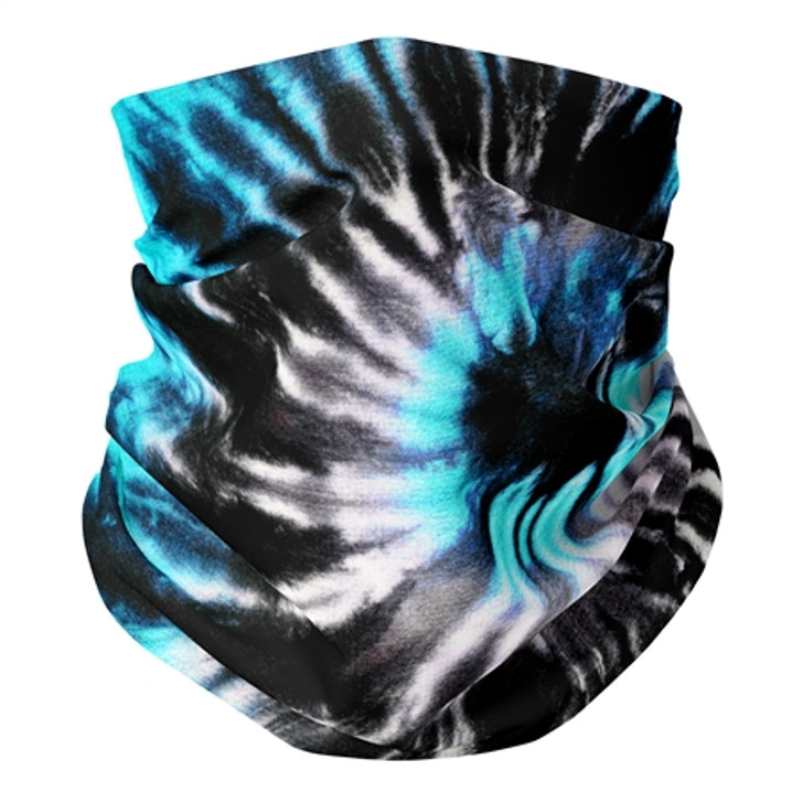 Blue & Black Tie Die Gaiter Mask Kids' Ages 5-12