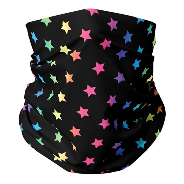 Rainbow Stars Gaiter Mask Kids' Ages 5-12